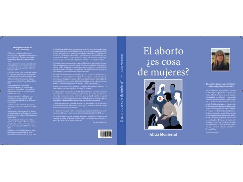Libro de Alicia Monserrat sobre el aborto provocado